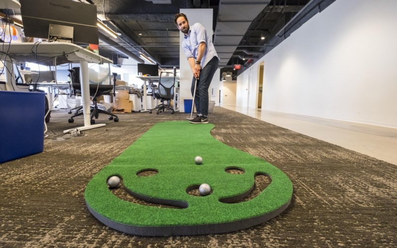 Cybereason Office Putting Green